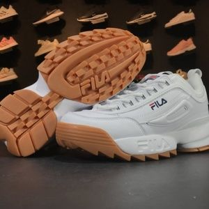 FILA Unisex Disruptor II 2 Shoes Sneakers- White/B
